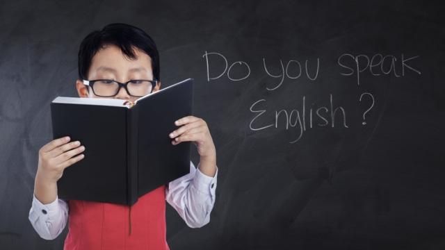 Ilustrasi anak belajar bahasa Inggris