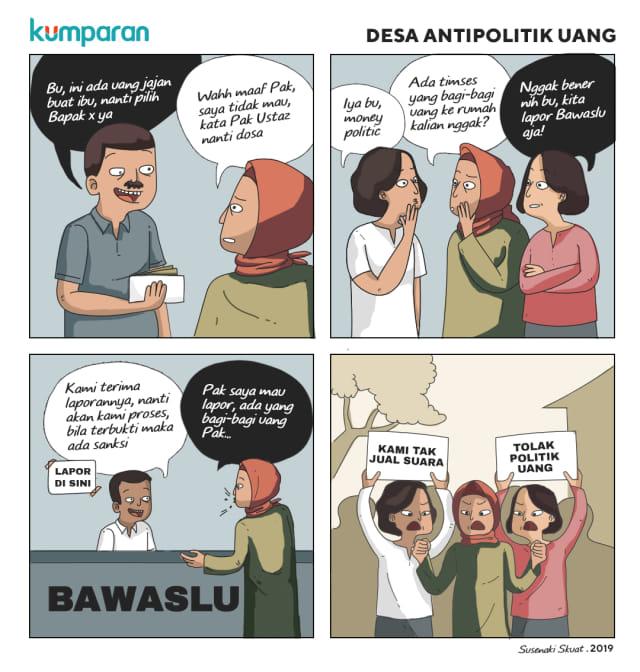 Komik Desa Antipolitik Uang