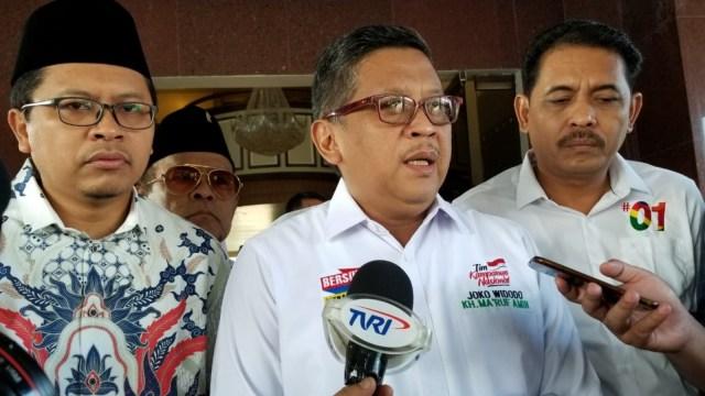 Sekertaris Jenderal Tim Kampanye Nasional, Hasto Kristiyanto, di Aceh