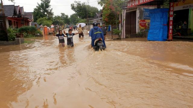Dampak banjir di Trenggalek