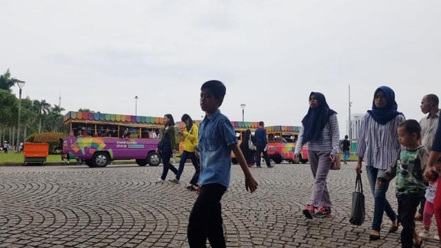 Suasana Monas di hari libur Nyepi 2019