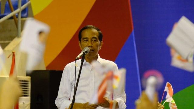 Sambutan Jokowi di Deklarasi Alumni Sriwijaya