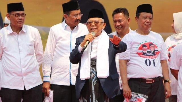 Ma'ruf Amin di Lapangan Gajah Mada Medan