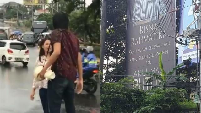 Ketahuan Selingkuh Cowok Ini Pasang Wajah Pacarnya Di Baliho Jumbo Kumparan Com