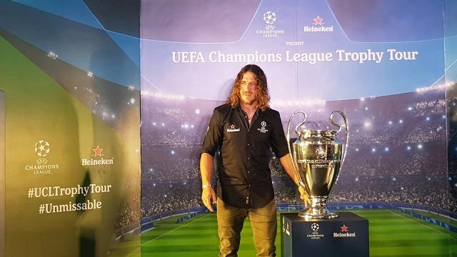 Acara Pembukaan UEFA Champions League Trophy Tour, Carles Puyol