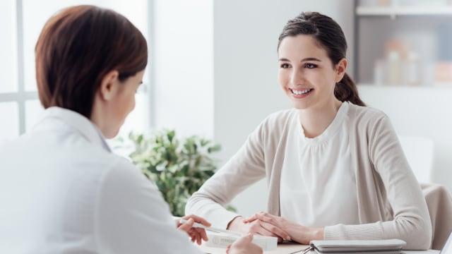 Ilustrasi, Wanita, Konsultasi, Dokter