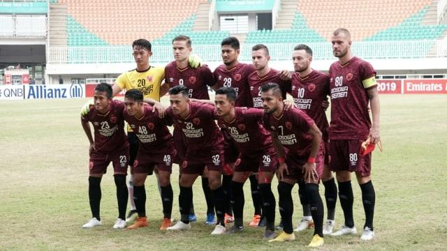 Laga PSM Makassar vs Lao Toyota, Piala AFC 2019, Stadion Pakansari, Bogor