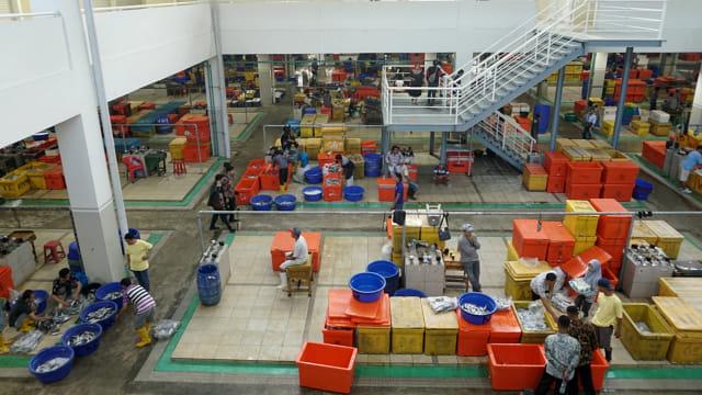 Pasar Ikan Modern (PIM) Muara Baru, Pedagang Ikan