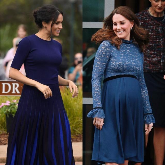 Gaya Meghan Markle dan Kate Middleton saat Hamil