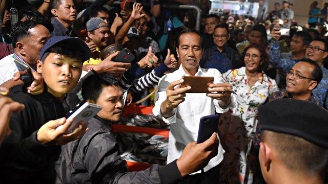 Jokowi, Pasar Ikan Muara Baru, Penjaringan, Jakarta Utara