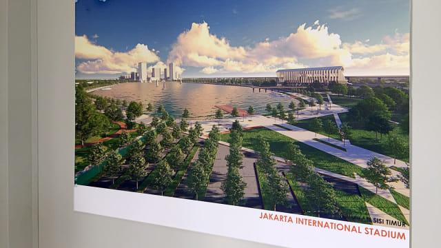 Maket dan desain pembangunan Jakarta International Stadium