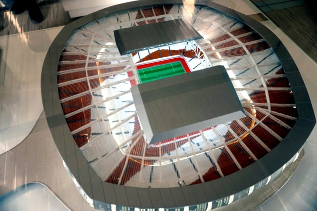 Lokasi Ground breaking Jakarta Internasional Stadium, Maket (NOT COVER)