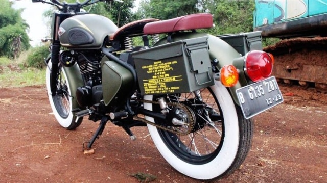 Kawasaki W175 Dirombak Jadi Royal Enfield Classic 500  (518055)