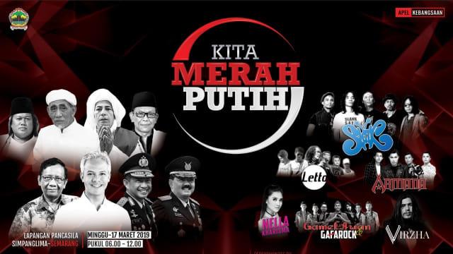 Poster Apel Kebangsaan 'Kita Merah Putih' yang diselenggarakan Pemprov Jawa Tengah.