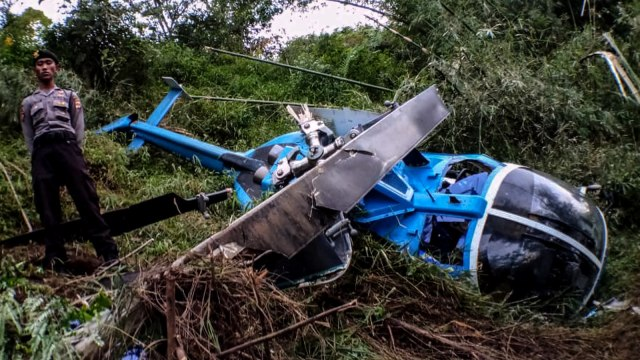 2 Korban Helikopter Jatuh Dirujuk ke Rumah Sakit TMC Tasikmalaya  (38255)
