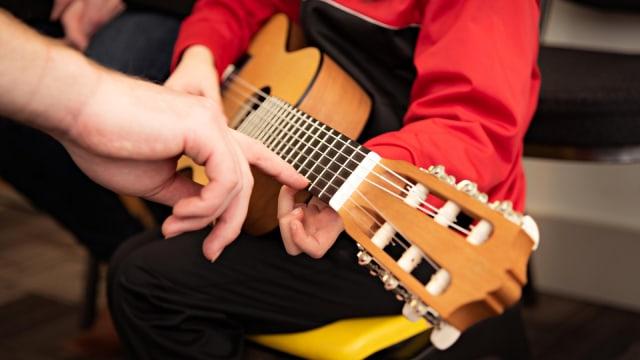 Ilustrasi, Anak, Bermain Musik