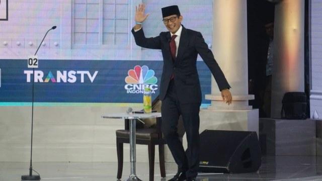 Debat Ketiga Cawapres, Pemilu 2019, Sandiaga Uno