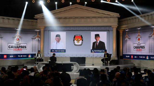 Debat Ketiga Cawapres, Pemilu 2019, Ma'ruf Amin, Sandiaga Uno