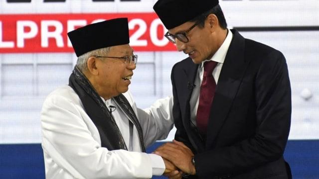 Ma'ruf Amin dan Sandiaga Uno