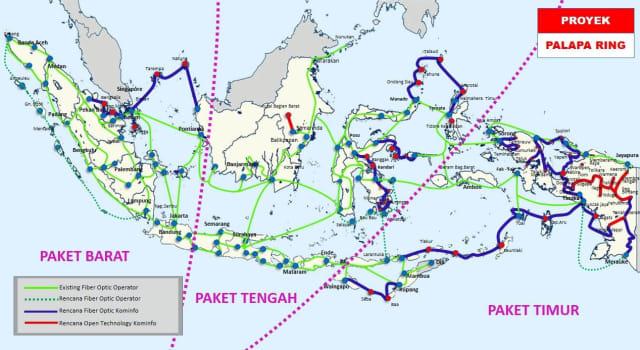 Peta Proyek Palapa Ring