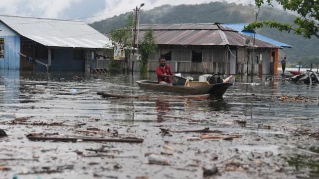 banjir bandang, Banjir di Sentani, Kampung Yoka, Jayapura, Papua