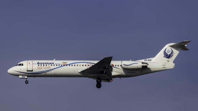 Pesawat fokker 100 Iran Air