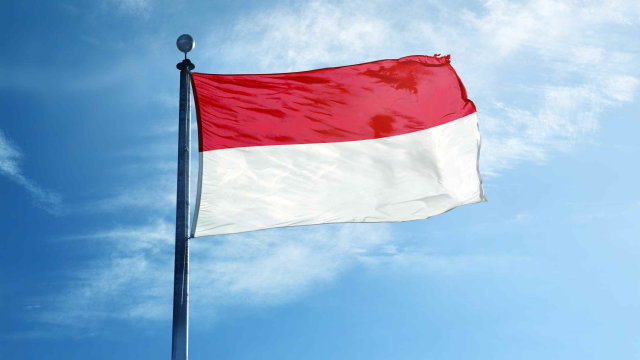 Ilustrasi Bendera Indonesia