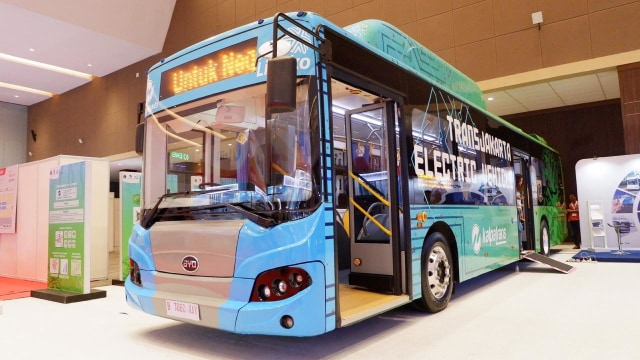 Bus listrik BYD untuk Transjakarta