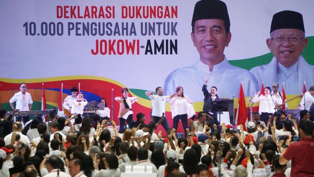 Suasana, Deklarasi Dukungan 10.000 Pengusaha untuk Jokowi-Amin