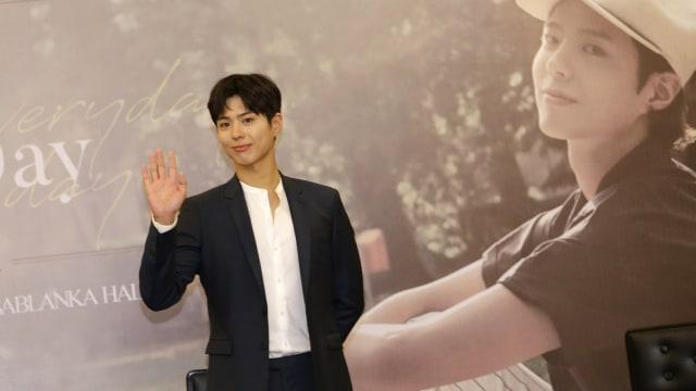 Park Bo Gum, konferensi pers jelang acara Good Day di Kota Kasablanka