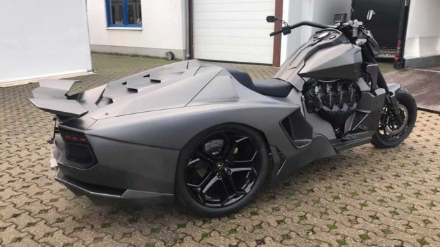Modifikasi motor besar jadi Lamborghini