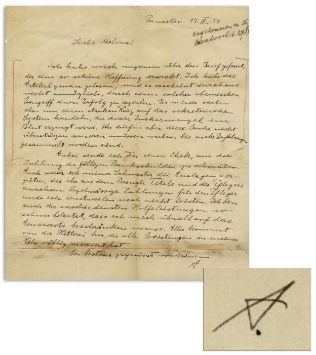 Secarik Tulisan Tangan Albert Einstein Dilelang Rp 17,25 Miliar, Apa Isinya? (1)
