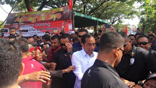 calon Presiden nomor urut 01, Jokowi, Kampung Nelayan Manggar, Balikpapan