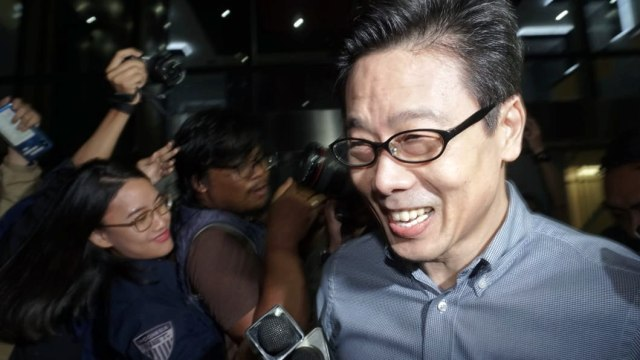 Pemilik PT Borneo Lumbung Energi, Samin Tan, Usai Diperiksa KPK