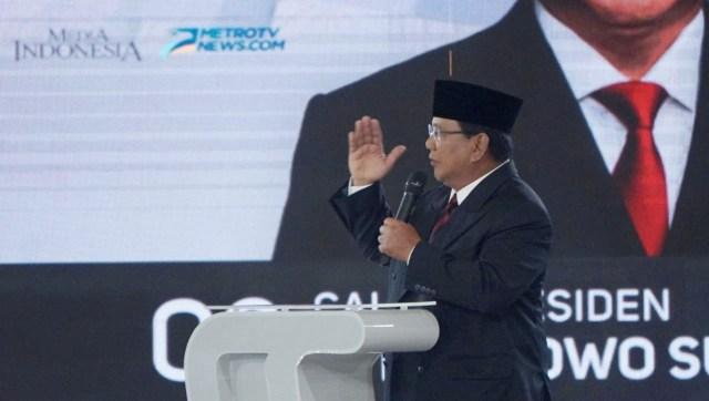 Debat Ke IV Pilpres,  Prabowo Subiant, Menyampaikan pendapat