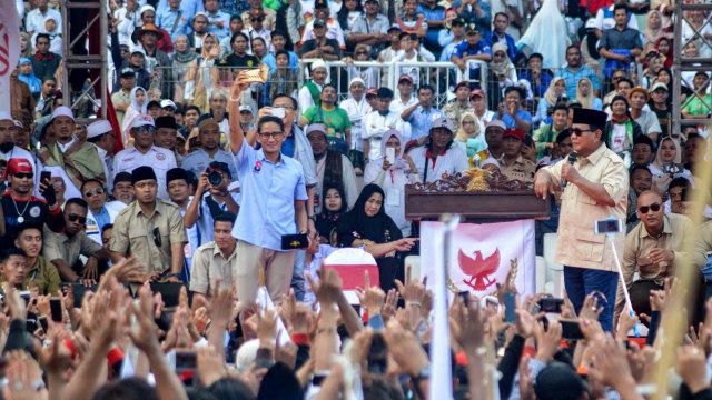 Prabowo, Sandi, Sidoardjo, Kampanye Akbar
