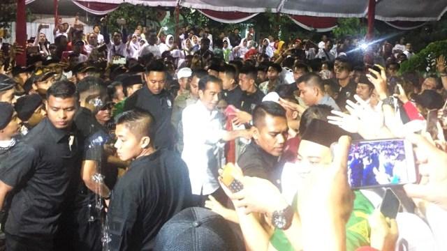 (NOT COVER) Calon Presiden nomor urut 01, Joko Widodo, Gor Bung Hatta, Ngawi