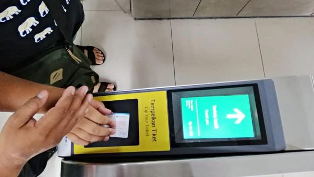 Antrean, MRT, Stasiun Bundaran HI