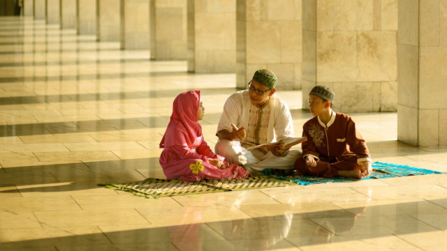 Ilustrasi anak muslim