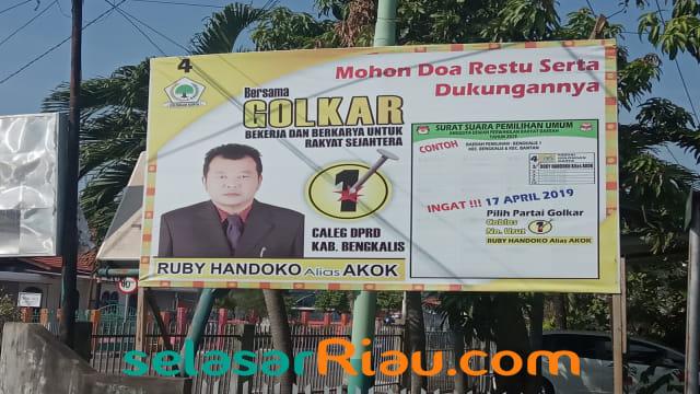 Caleg di Riau Enggan Pasang Foto Jokowi-Ma'ruf di Baliho  (851433)