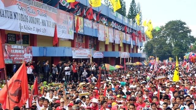 Kampanye Capres 01 Joko Widodo di Gor Sasana Krida, Kabupaten Banyumas, Jawa Tengah
