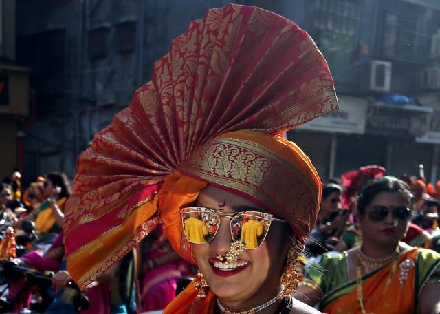 (NOT COVER) India, Festival Gudi Padwa, Mumbai