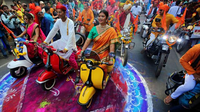 India, Festival Gudi Padwa, Mumbai