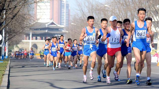Maraton Internasional Mangyongdae ke-30 di Pyongyang