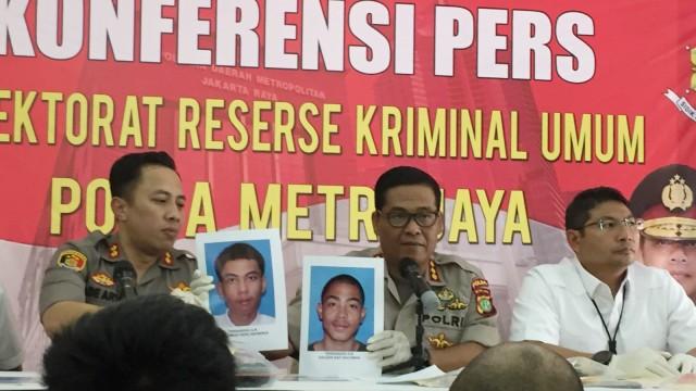 Konferensi pers pelaku begal di Kuningan, Jakarta Selatan