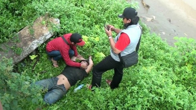 Pelaku curanmor ditangkap di Tanah Abang, Jakarta Pusat, Senin (8/4).