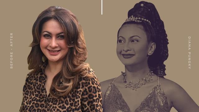 Transformasi Diana Pungky, Jin Cantik yang Terkenal di Era 90-an (644317)
