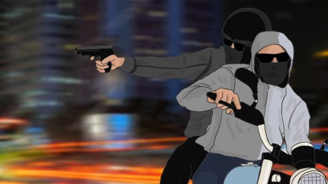 Ilustrasi Begal, Kriminal, Penembakan,
