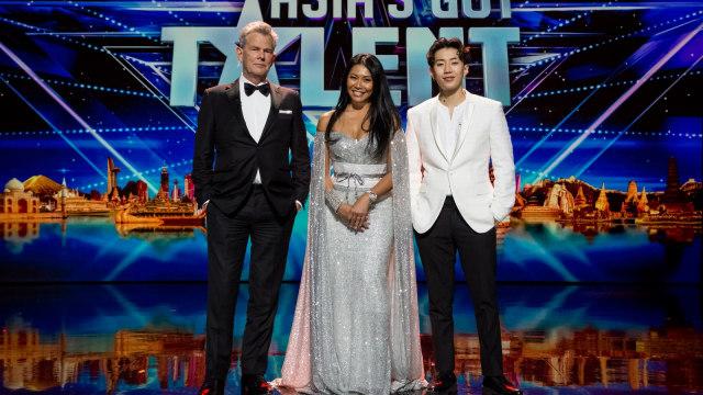 Anggun bersama David Foster dan Jay Park, Juri Asia's Got Talent season 3