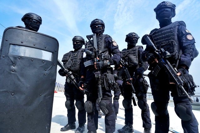 latihan penanggulangan terorisme satuan gultor TNI, Hotel Mercure Ancol, Jakarta